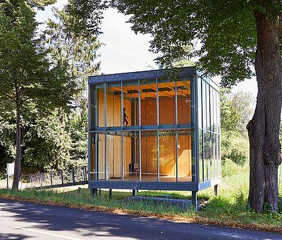 Ein Glashaus mitten in der Natur in Ostbevern
