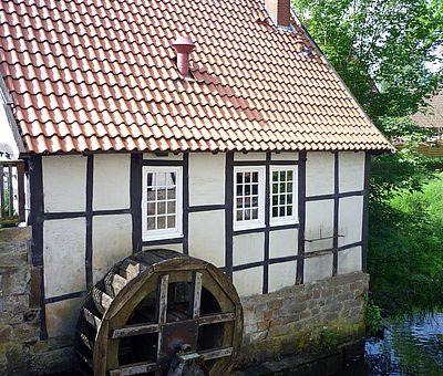 Das Wasserrad der alten Wassermühle in Ladbergen