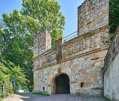 Das Burgtor zur Freilichtbühne in Tecklenburg