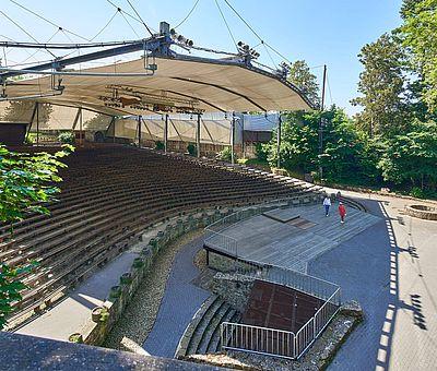 Ein Blick auf Deutschlands größte Freilichtbühne in Tecklenburg