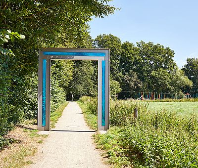 Das blaue Tor am der Ems in Ostbevern