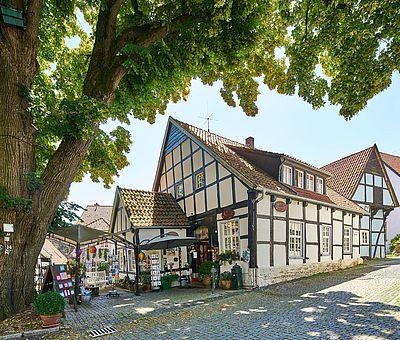 Eines der vielen Fachwerkgebäuden in Tecklenburg